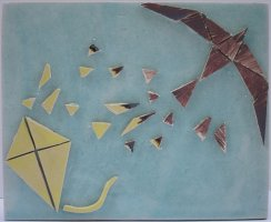 Kites ceramic  tile wall hanging